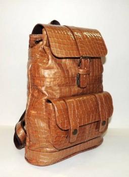 Кожаные рюкзаки и сумки оптом. По ценам производителя. - кожаный рюкзак Медовый (24).JPG