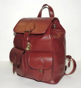 Кожаные рюкзаки и сумки оптом. По ценам производителя. - кожаный рюкзак Рокайо (24).JPG